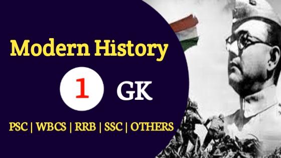 Indian Modern History GK