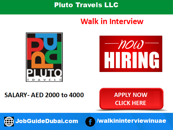 Pluto Travels LLC career for Travel Consultant and Coordinator Jobs in Dubai UAE