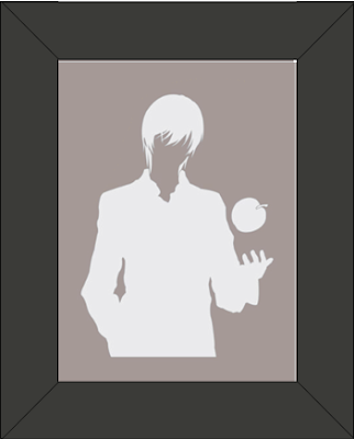 Cadre Silhouette de Light Turner  / Light Yagami : Personnage Death Note
