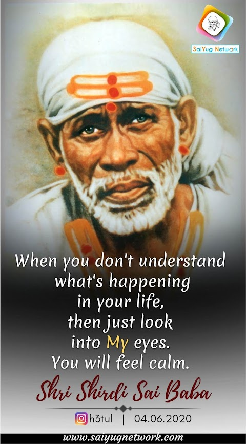 Feel Calm - Sai Baba Face Painting Image