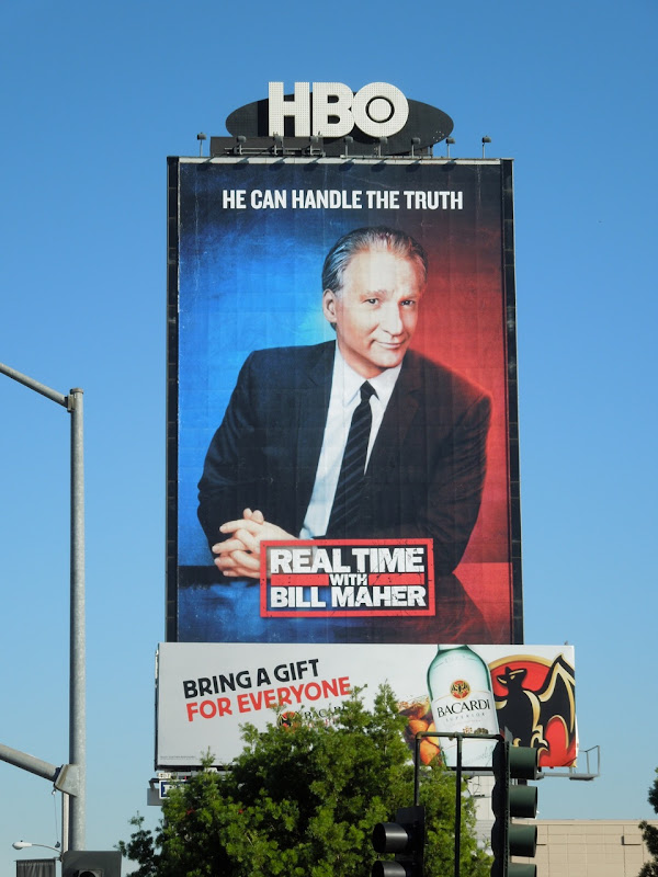 Real Time Bill Maher HBO billboard