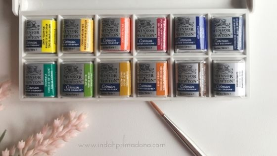 review winsor and newton watercolours, review cat air, cat air winsor and newton, winsor and newton cotman, watercolor untuk pemula