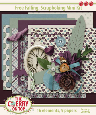 Free Falling Scrapbooking Mini Kit
