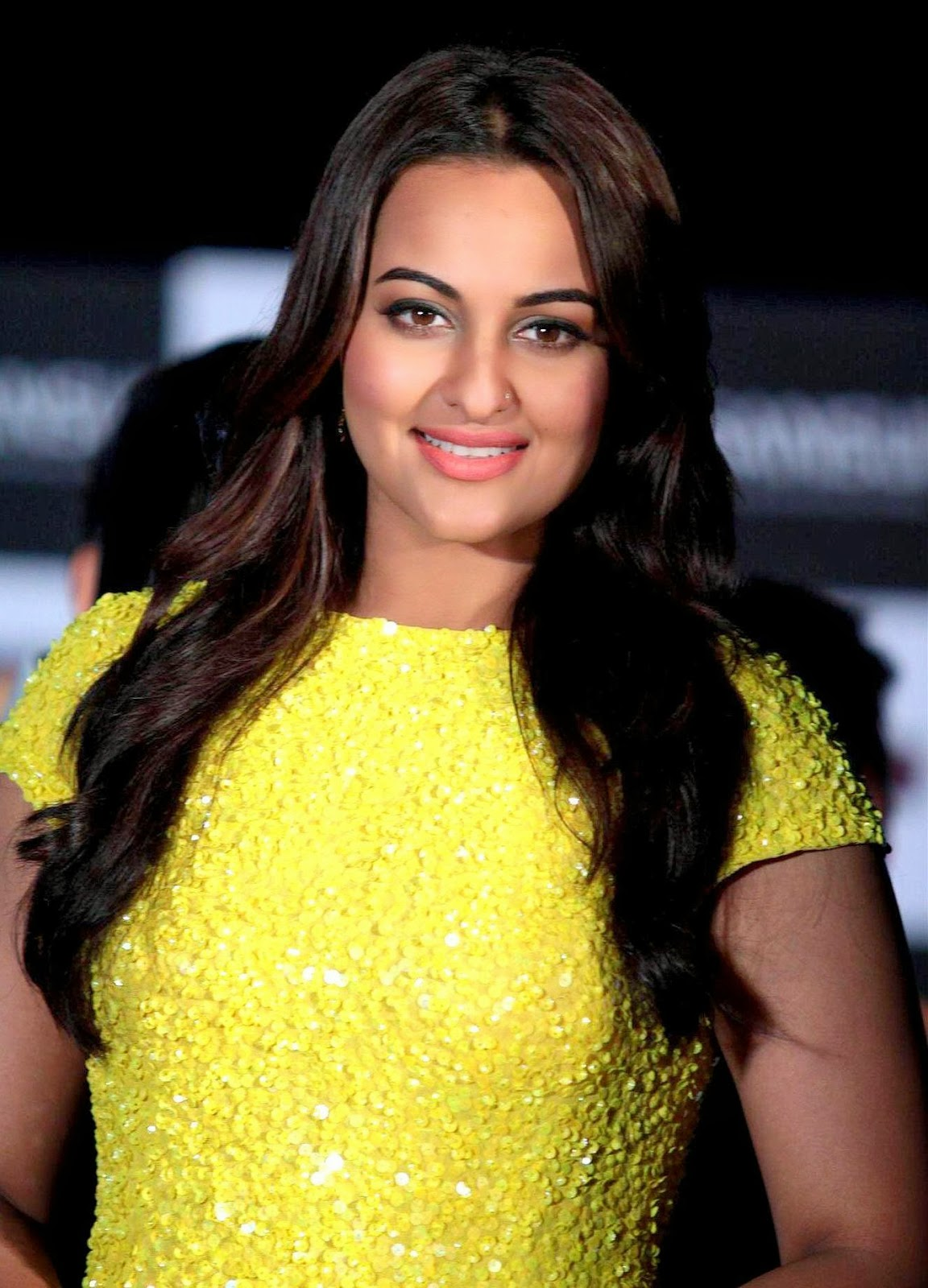 Sonakshi Sinha Photos In Yellow Dress