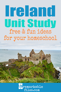 This Ireland unit study is packed with activities, Celtic crafts, book lists, and Irish recipes for kids of all ages! Make learning about Ireland in your homeschool even more fun with these free ideas and resources. #Ireland #homeschool