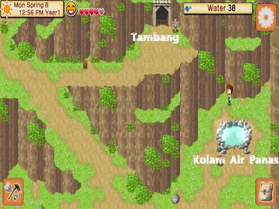 Map dan Bangunan Harvest Moon Seeds of Memories