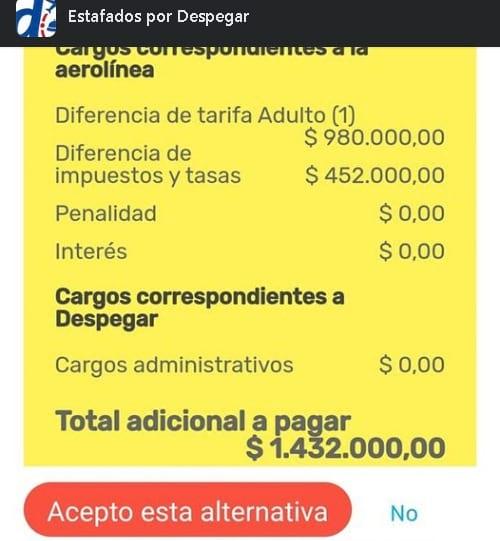 estafa despegar aerolineas argentinas british airways reprogramar