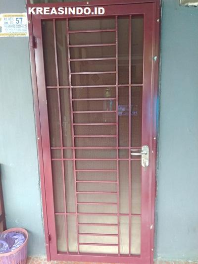 Pintu Kawat Nyamuk Besi Minimalis pesanan Bpk Yono di Parung Serab Depok