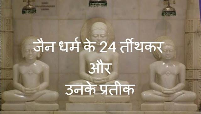 जैन धर्म के सभी तीर्थकर और उनके प्रतीक