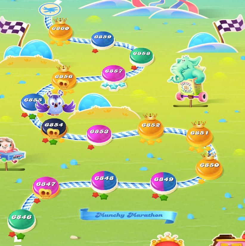 Candy Crush Saga level 6846-6860