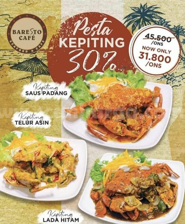 Promo Baresto Cafe Pesta Kepiting! Diskon hingga 30% untuk Menu Kepiting