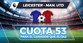 paston megacuota leicester vs manchester united