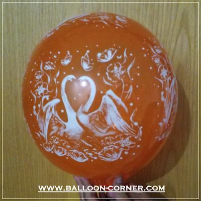Balon Latex Print Angsa / Swan (MURAH)