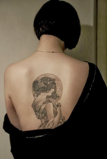 Art Nouveau Tattoo Design By Tegan Ray: Deerstalking: Art Nouveau Tattoos
