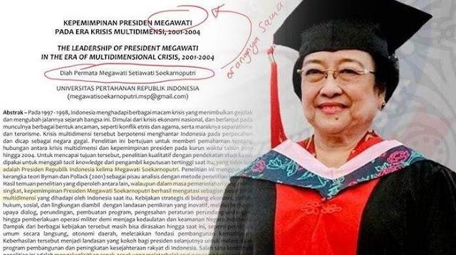 Megawati Puji Diri Sendiri dalam Karya Ilmiahnya untuk Unhan, Rocky Gerung: Aneh!