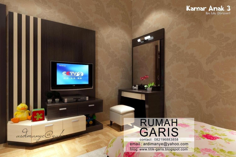 Desain interior model kamar anak ibu Lily  Rumah Garis