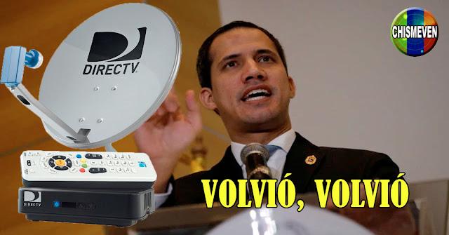 Juan Guaidó muy pendiente del regreso del DirecTV para que el pueblo siga entretenido