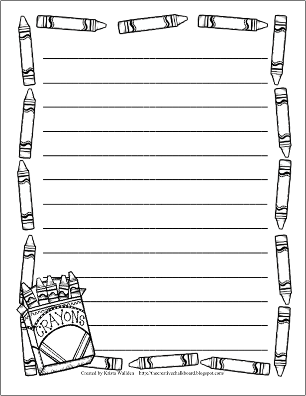 border paper for writing