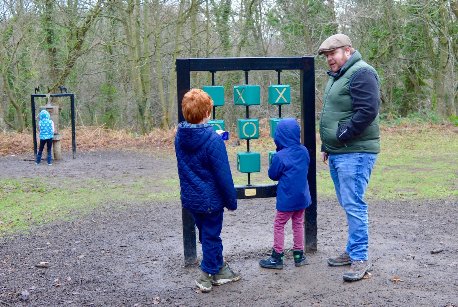 Our Visit to Plessey Woods - A FREE day out in Northumberland. It was very muddy and the perfect chance for Harry to put his GORE-TEX shoes through their paces - playing noughts and crosses