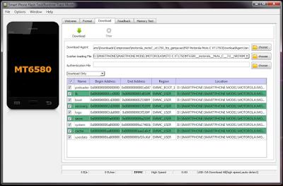 Cara Flashing Motorola Moto C XT1750 Bootloop,Bypass FRP Via SP Flashtool