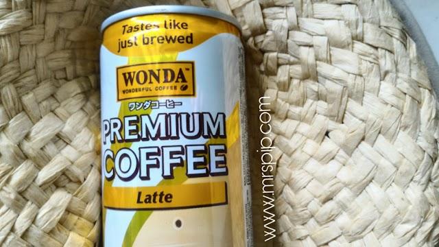 Sedapnya kopi latte Wonda