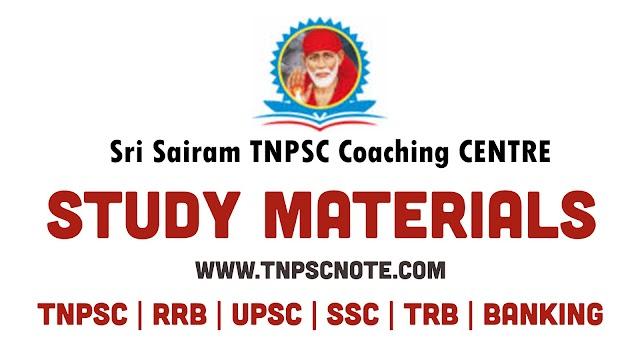 TNUSRB SI தேர்வுகளுக்கு Sri Sairam Coaching Centre வெளியிட்டுள்ள 4000 வினா விடை பகுதி IV