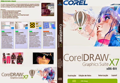CorelDRAW Graphics Suite X7 - x86-Bit (32-Bit) DVD Capa