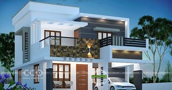 1615 Square Feet 3 Bedroom Modern Flat Roof House Kerala