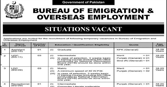 Foreign Jobs - Bureau of Emigration & Overseas Employment, Bureau of Emigration & Overseas Employment, Bureau of Emigration & Overseas Employment Jobs 2020, BEOE Jobs - Bureau Of Emigration & Overseas Employment, shakirjobs, shakirjobs.com,