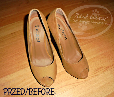 Akcja:Reperacja u Adzika - stare damskie buty po malowanej odnowie