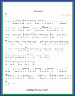 not angka ya saman lagu daerah sumatera selatan
