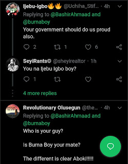 Grammy NOM: Nigerians Mocks Buhari Aide, Bashir After Congratulates Burna Boy