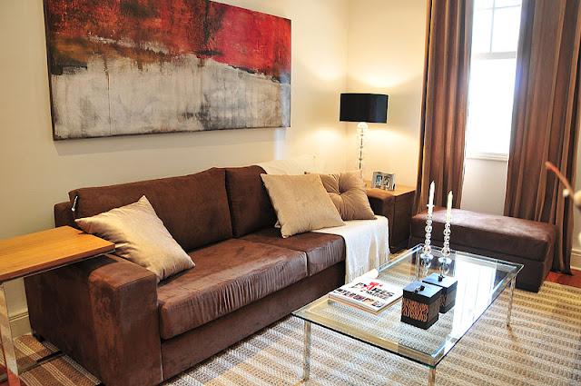 Sala De Estar Na Cor Marrom ~  Minha Casa Clean Dúvida da Leitora  Salas e Cozinha com Vermelho