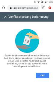 Veirfikasi identitas adsense menggunakan hp