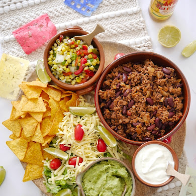 Ground Beef Taco Recipe and Taco Board