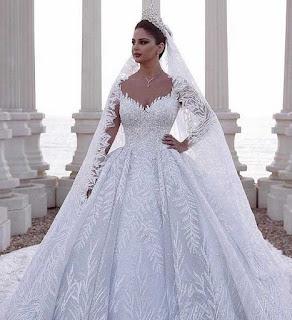 احلى واجمل صور فساتين زفاف فرح رائعة
