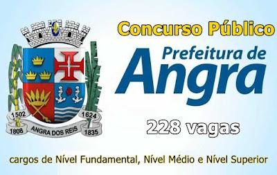Prefeitura de Angra dos Reis abre concurso com 228 vagas