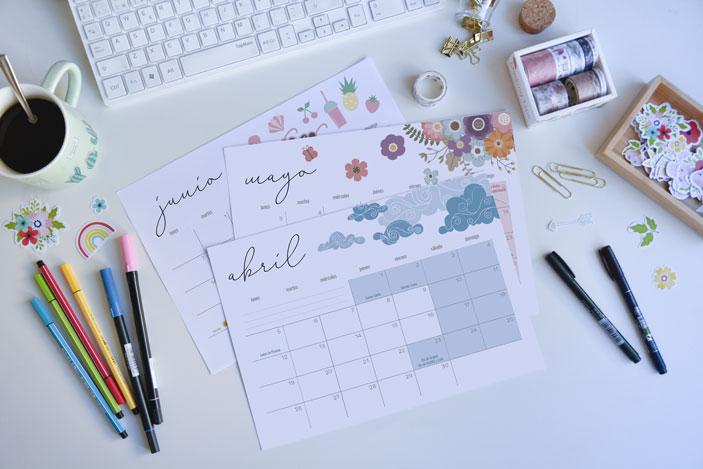 horizontal free printable calendar
