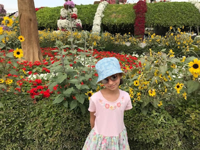 Girl in the Dubai Miracle Garden