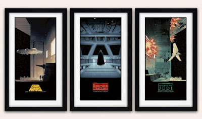 Star Wars Saga Original Trilogy Regular Edition Screen Print Triptych by Matt Ferguson & Bottleneck Gallery