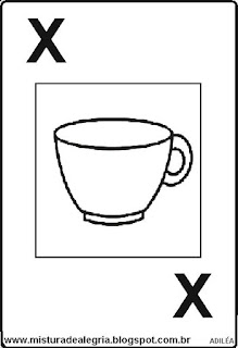 Baralho alfabético letra X