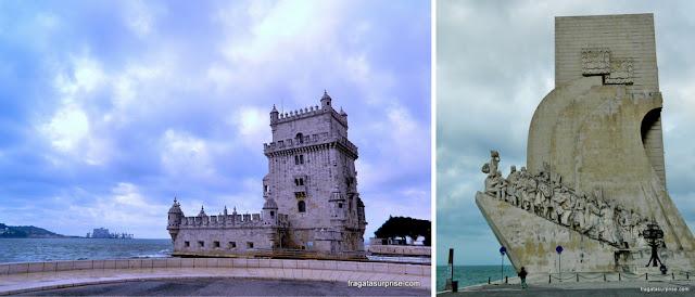 A Torre de Belém e o o Padrão dos Descobrimentos, em Lisboa