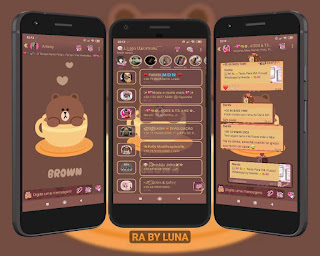 Brown Teddy Bear Theme For YOWhatsApp & Fouad WhatsApp By Luna