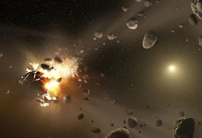 Choque de asteroides- Una Galaxia Maravillosa