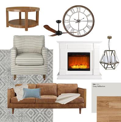 Hamptons Living Room Moodboard