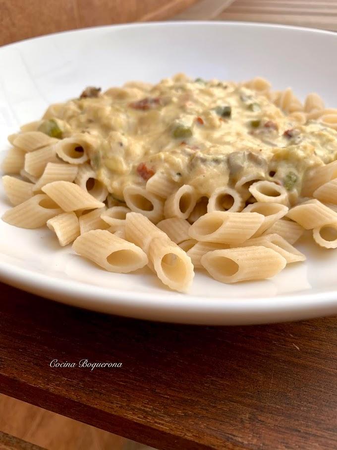 Salsa cremosa de verduras para pasta (sin gluten y sin lácteos)