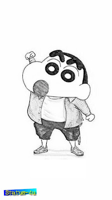 10 Best Shinchan drawing images | Shinchan sketch images