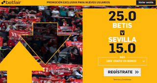 betfair supercuota liga Betis vs Sevilla 10 noviembre 2019