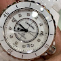h5705 Chanel J12 All White Ceramic Automatic 38mm Ladies Watch