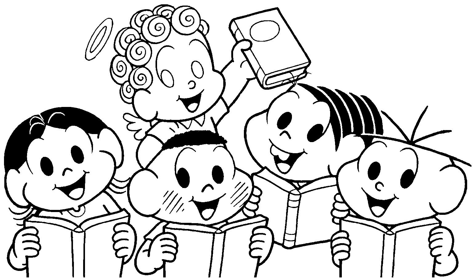 Companheiros Da Educação Desenhos Turma Da Mônica Para